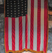 Us Flag At Whiteface Mountain Ny Poster