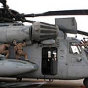 U.s. Marines Perform Preflight Checks Poster