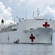U.s. Naval Hospital Ship Usns Mercy Poster