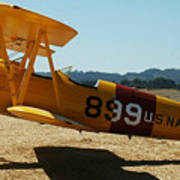 US Navy biplane Poster