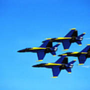 Us Navy Blue Angels Flight Demonstration Team In Fa 18 Hornets Poster