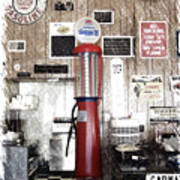 Us Route 66 Smaterjax Dwight Il Gas Pump 01 Pa 01 Poster