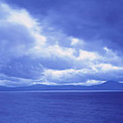 Usa, California, Lake Tahoe, Storm Poster
