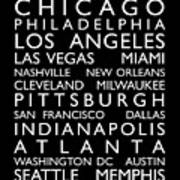 Usa Cities Bus Roll Poster
