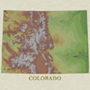 Usgs Map Of Colorado Poster