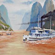Uss San Pablo On Yangtze River Patrol Poster