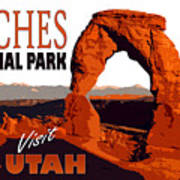 Utah, Arches, National Park Poster