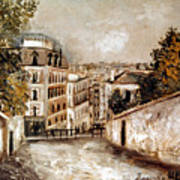 Utrillo: Montmartre, 20th C Poster
