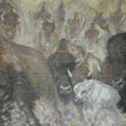 Uttc - Buffalo Mural Left Panel Poster
