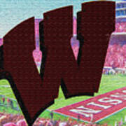 Uw Game Day Poster - Oil Poster