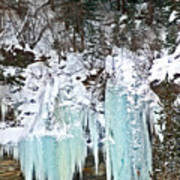 Vail Ice Falls Poster