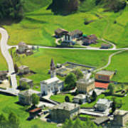 Val Poschiavo From The Bernina Express Switzerland Poster