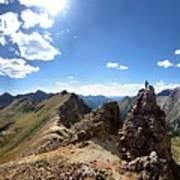 Valecito And Chicago Basins From Mt Jupiter - Weminuche Wilderness - Colorado Poster