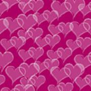 Valentine Hearts Pattern Poster