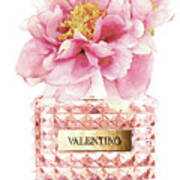 Valentino Pink With Peony Poster