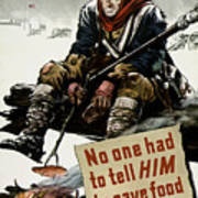 Valley Forge Soldier - Conservation Propaganda Poster