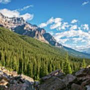 Valley Near Moraine Lake Banff Poster