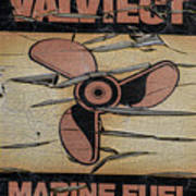 Valvtect Marine Fuel Sign Poster