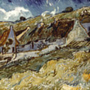Van Gogh: Cottages, 1890 Poster