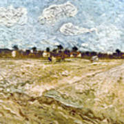 Van Gogh: Fields, 1888 Poster