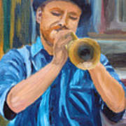 Van Gogh Plays The Trumpet Poster