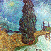 Van Gogh: Road, 1890 Poster