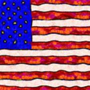 Van Gogh.s Starry American Flag Poster