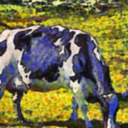 Van Gogh.s Starry Blue Cow . 7d16140 Poster