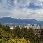 Vancouver Bc Skyline Daytime View Poster