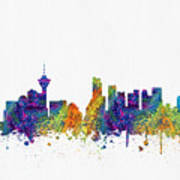 Vancouver British Columbia Skyline Color03 Poster