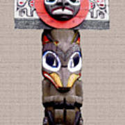 Vancouver Totem - 3 Poster by Linda  Parker