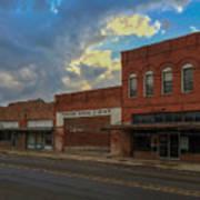 #vanishingtexas Street Scene - Rosebud Texas Poster