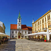 Varazdin Main Square, Croatia Poster