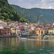 Varenna Italy Old Town Waterfront Poster