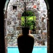 Vase In A Window Poster