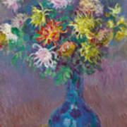 Vase Of Chrysanthemums Poster