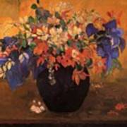 Vase Of Flowers 1896 Poster
