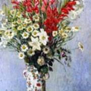 Vase Of Flowers Poster by Claude Monet