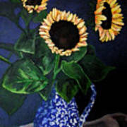Vase Of Sunflowers Poster