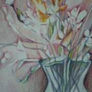 Vase With Flowers Poster