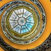 Vatican Staircase Looking Up Poster