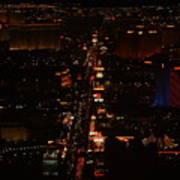 Vegas Strip Poster by D R TeesT