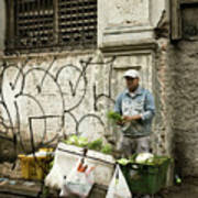 Vegetable Vendor Havana Cuba Poster