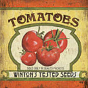 Veggie Seed Pack 3 Poster by Debbie DeWitt