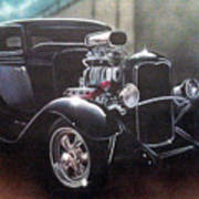 Vehicle- Black Hot Rod  Poster