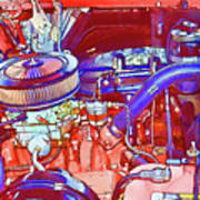Vehicle Engine Close Up Poster