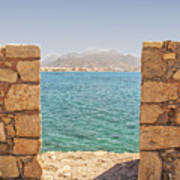 Veiw Of Lerapetra From Kales Fort Portrait Composition Poster