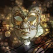 Venetian Golden Mask Poster