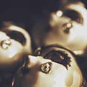 Venetian Masquerade Mask Rings Poster