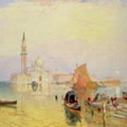 Venetian Scene, 19th Century Poster
